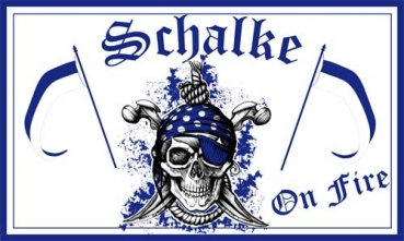 Flagge Fahne Gelsenkirchen Pirat Schalke on Fire Flagge 90x150 cm