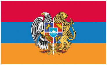Flagge Fahne Armenien Wappen Digitaldruck