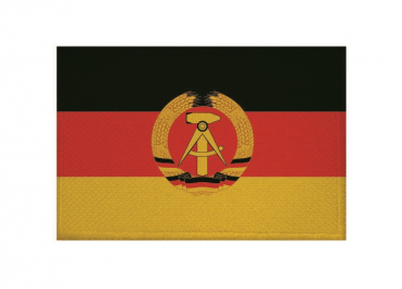 Aufnäher Patch DDR Aufbügler Fahne Flagge
