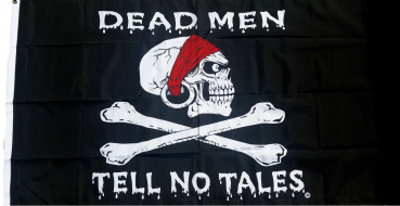 Flagge Fahne Pirat Dead Men Tell No Tales 90x150 cm