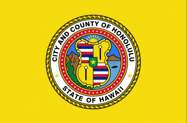 Flagge Fahne Honolulu City Hawaii 90x150 cm Digitaldruck