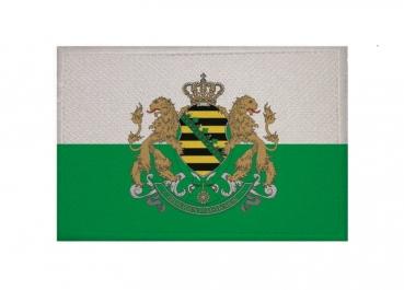 Aufnäher Ligurien Italien Fahne Flagge Aufbügler Patch 8 x 5 cm