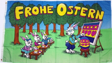 Flagge Fahne Frohe Ostern Osterhase Kinder