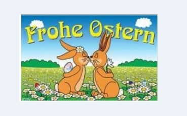Flagge Fahne Frohe Ostern 7  90x150 cm