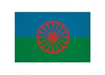 Aufnäher Patch Sinti und Roma Aufbügler Fahne Flagge