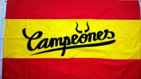 Flagge Fahne Spanien Stier Campeones Fanflagge