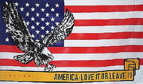 Flagge Fahne Amerika Love it or Leave it 90x150 cm