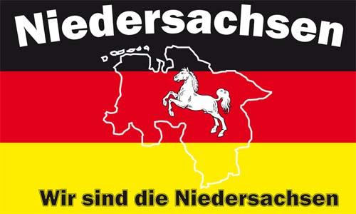FAHNE//FLAGGE   BUNDESLAND  Niedersachsen     90x150