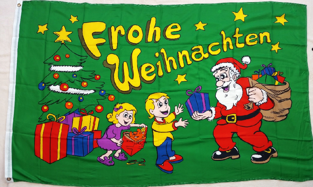 Weihnachten Kinder.Flagge Fahne Frohe Weihnachten Kinder Mit Weihnachtsmann 90x150 Cm F650