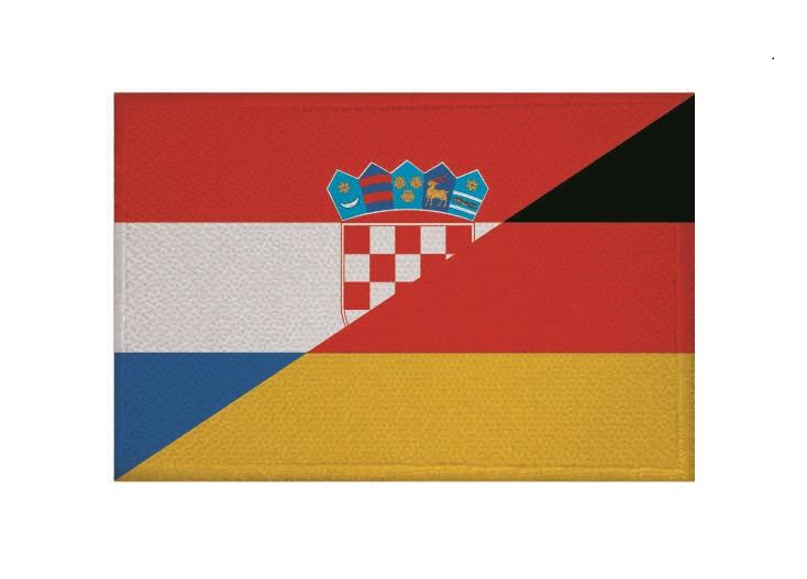 flaggenparadies aufn her patch freundschaft kroatien deutschland aufb gler fahne flagge. Black Bedroom Furniture Sets. Home Design Ideas
