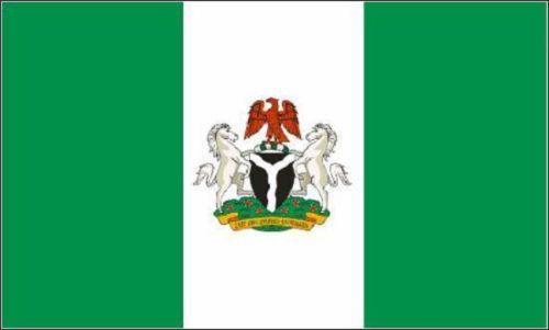 Flagge Fahne Nigeria mit Wappen 90x60 cm *P